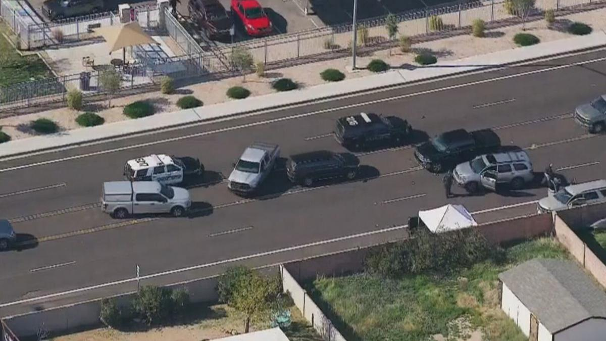 Police investigation in Mesa