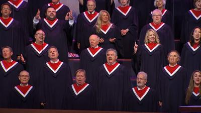 Choir of more than 100 people perform without masks at Pence event