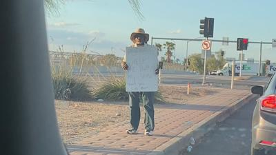 Notorious panhandler spotted in west Phoenix