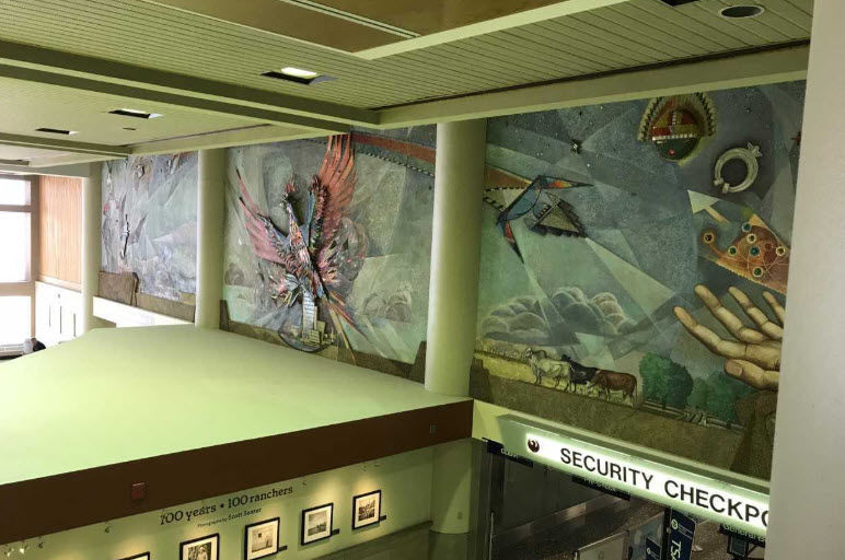 The mural in Terminal 2 will be preserved