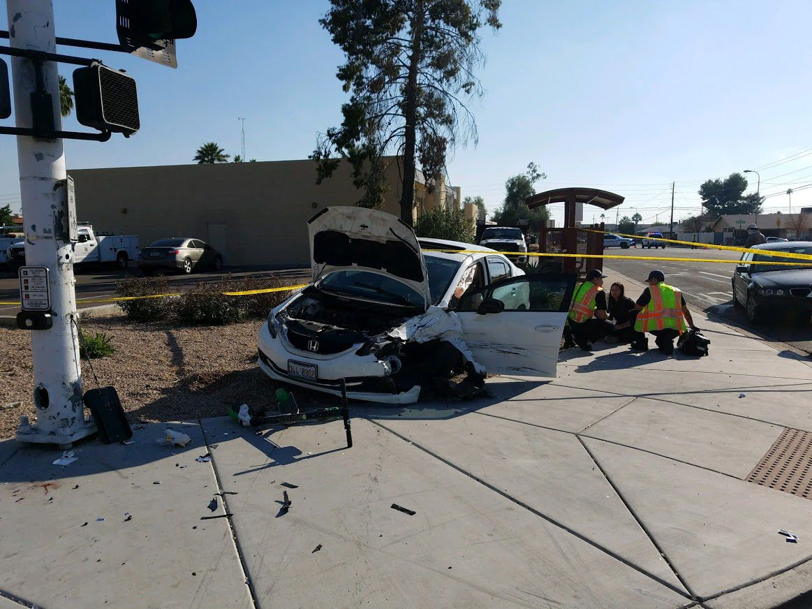Accident in Scottsdale at Miller and Thomas.