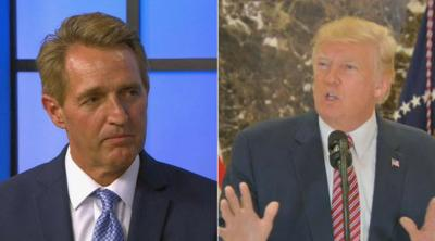 Sen. Jeff Flake fires back at Pres. Trump's 'electoral corruption' tweet