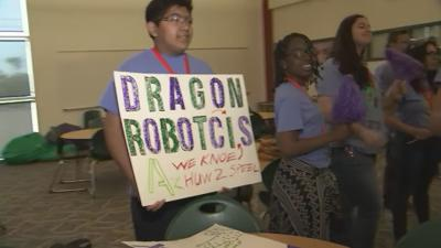 High school robotics club works to raise money for competition