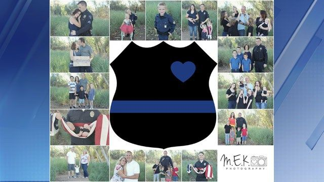 Valley photographer gives police families free photo shoots