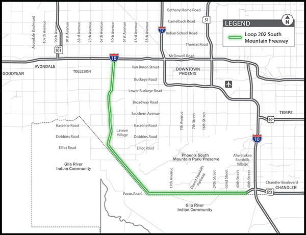 South Mountain Freeway to include a bike path in Ahwatukee