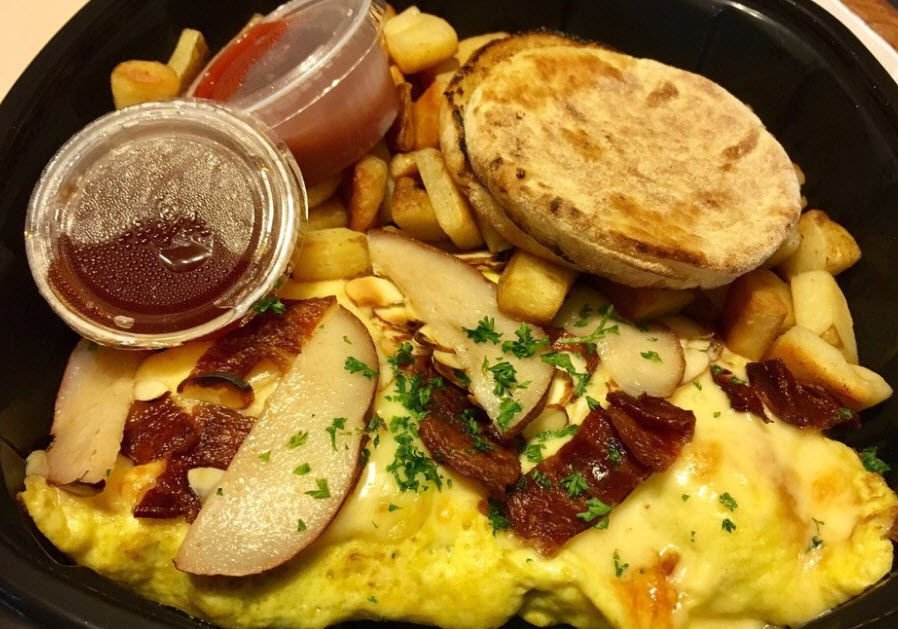 The O'Pear omelet from T.C. Eggingtons