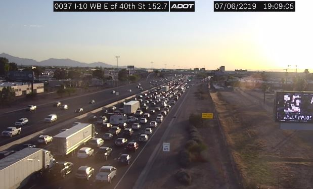 Backups on I-10 Saturday