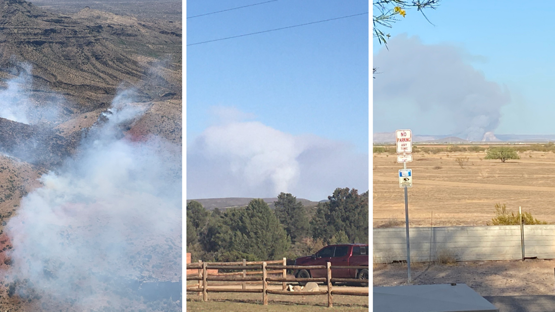 Three wildfires sparked outside the Phoenix area