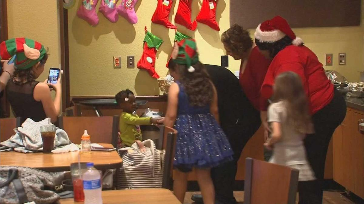 Denny's staff donates time, tips to surprise needy families