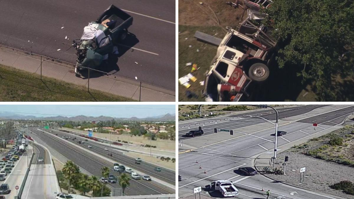7 people killed in separate crashes Sunday in Phoenix