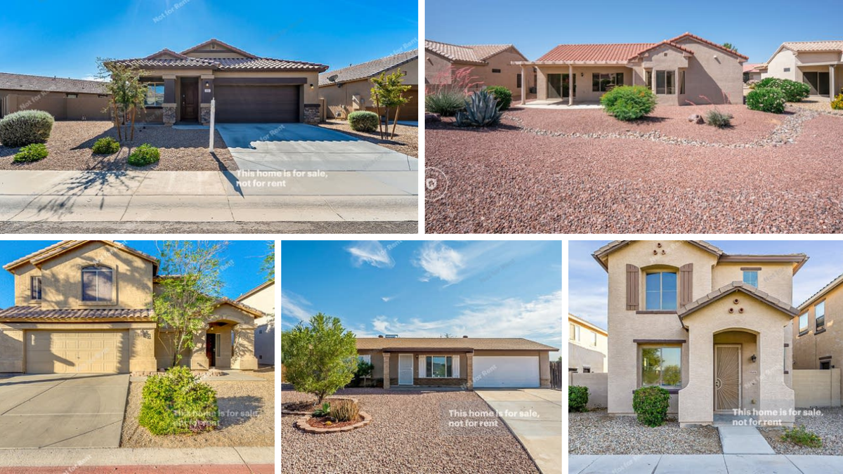 5 beautiful homes in Phoenix-area under $300K