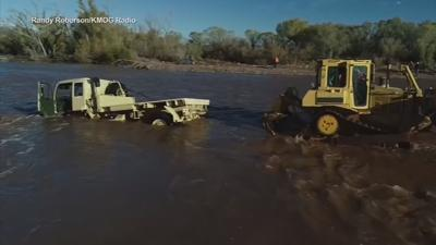 Military-style vehicle pulled from Tonto Creek