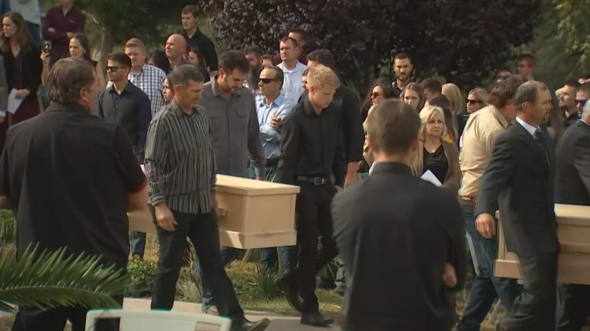 Funeral services for members of family murdered in Mexico