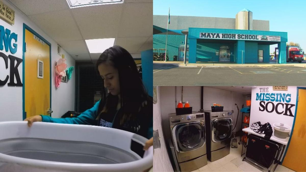 Phoenix-area school adds laundry room to help struggling students, combat absences