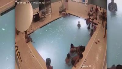 Boy almost drowns in hotel pool