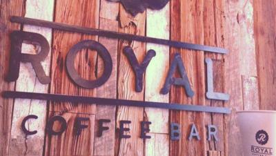 Royal Coffee Bar is locally owned and housed inside a 19th-century carriage house.