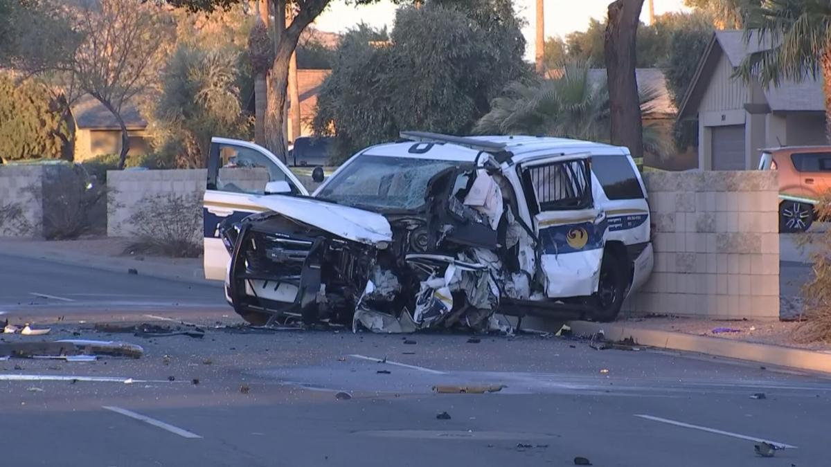Phoenix police SUV involved in crash