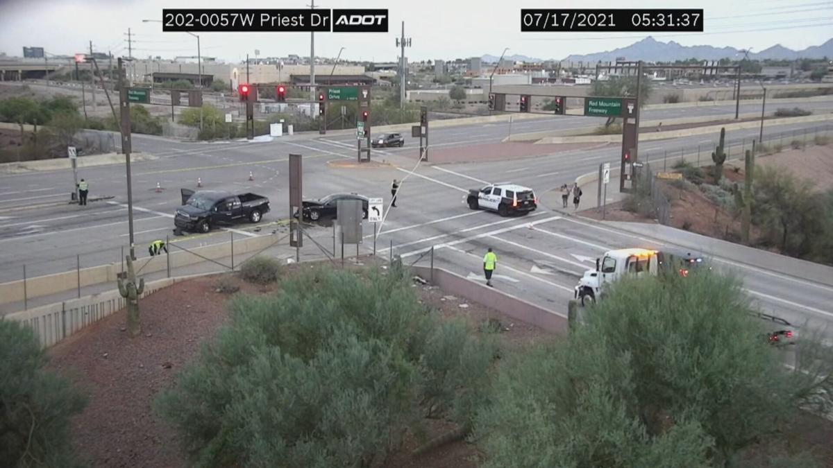 Two seriously hurt in wrong-way crash in Tempe