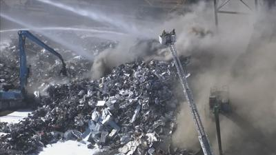 Recycling business fire