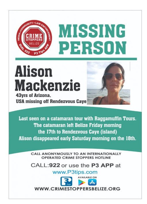 A flyer from Crime Stoppers Belize