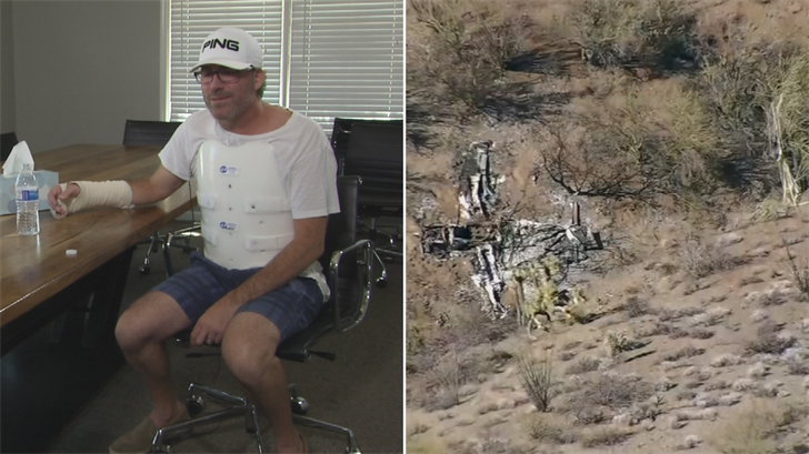 'I'm incredibly lucky' says pilot who survived small plane crash near Wickenburg