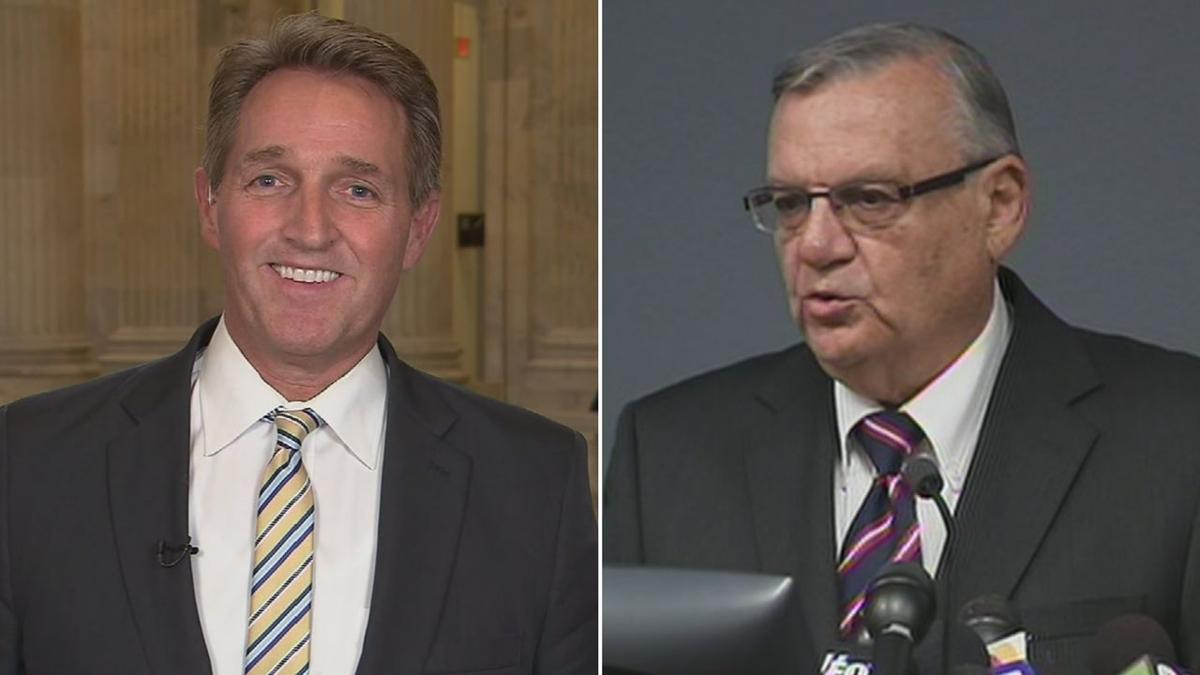 Arpaio suggests Flake committed treason, calls for limits on criticizing president
