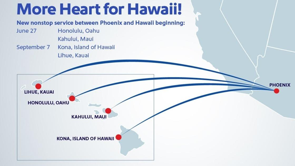 Southwest announces new nonstop flights from Hawaii starting at $159