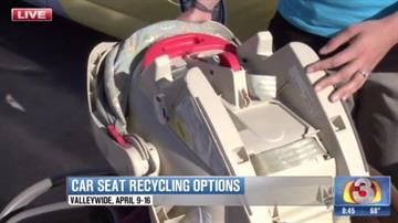 Car seat recycling programs good options for used child safety seats