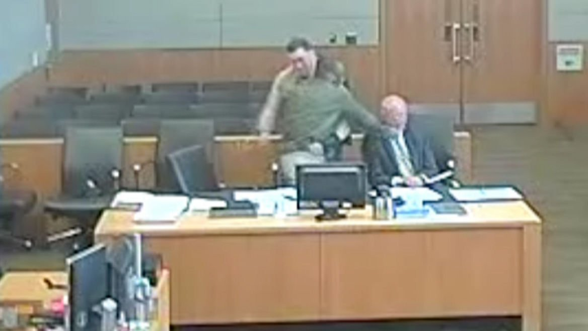 Phoenix attorney caught on camera being sucker punched by his own client