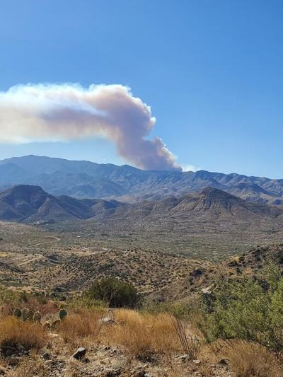 Wildfire burning near Crown King