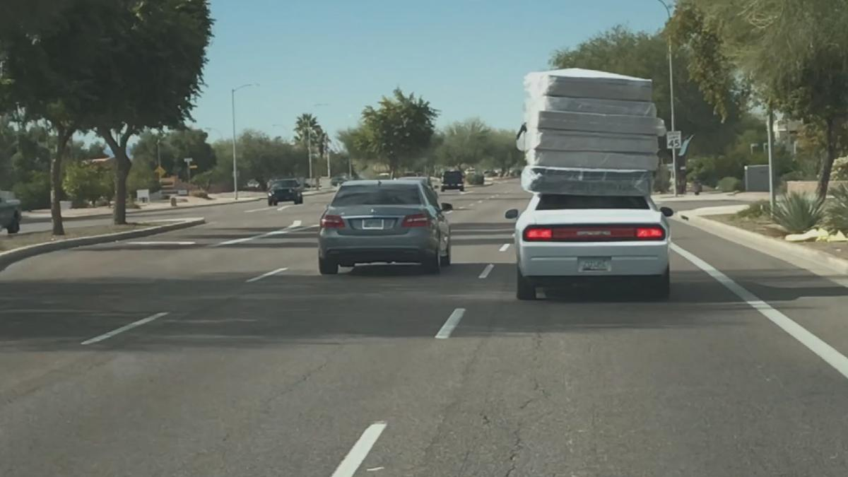 One man's mattress-delivery system is raising eyebrows