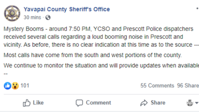 YCSO reports of another boom
