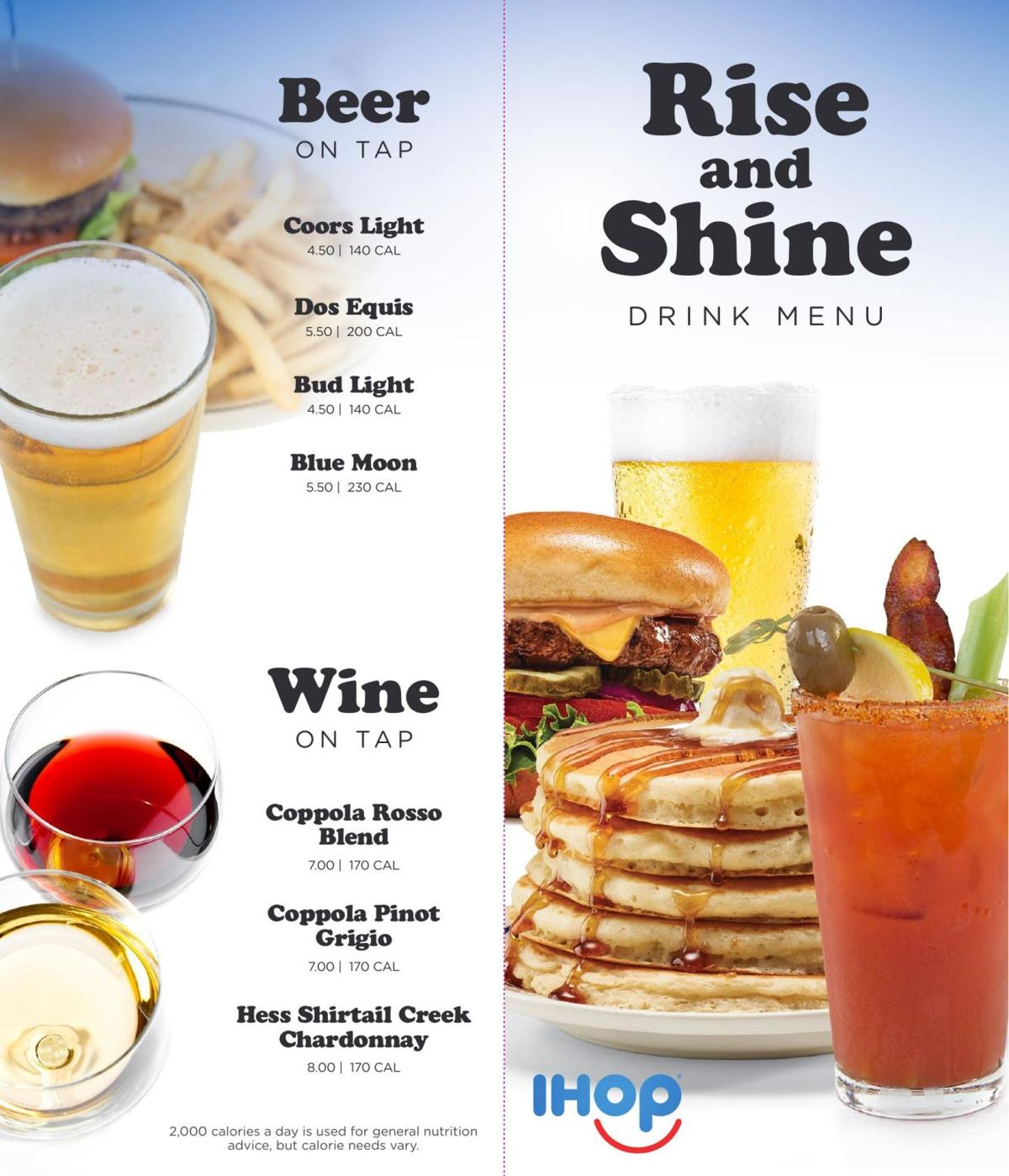 The Rise and Shine brunch-inspired bar menu