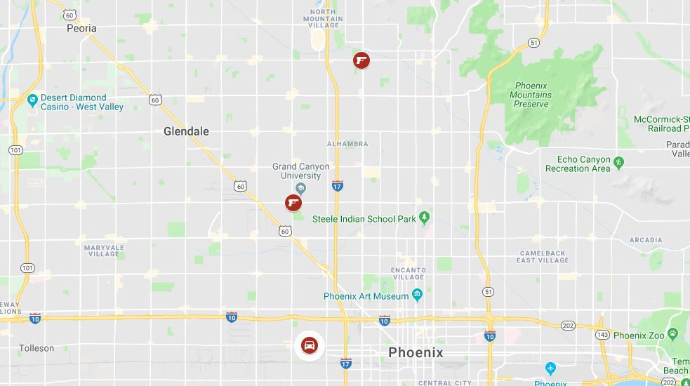 MAP: Police say 2 deadly shootings in Phoenix 'are likely related'