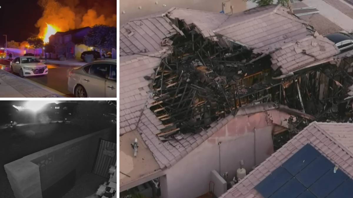 Two people injured after huge house fire in Goodyear