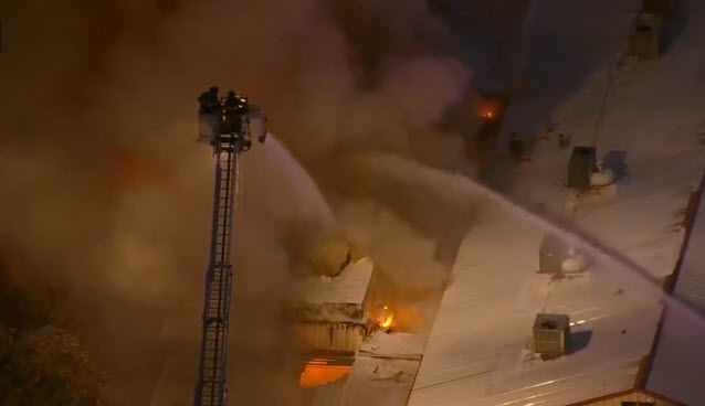 The fire started just before 6 p.m. near Gilbert and Main Street.