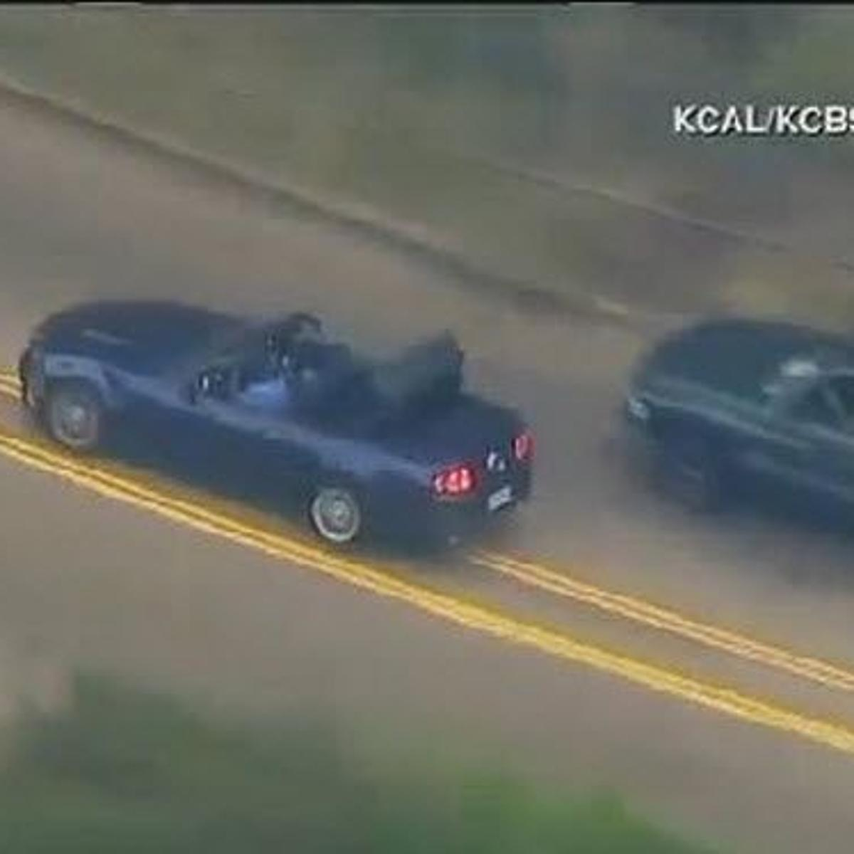 Bizarre end to wild police chase through streets of Los