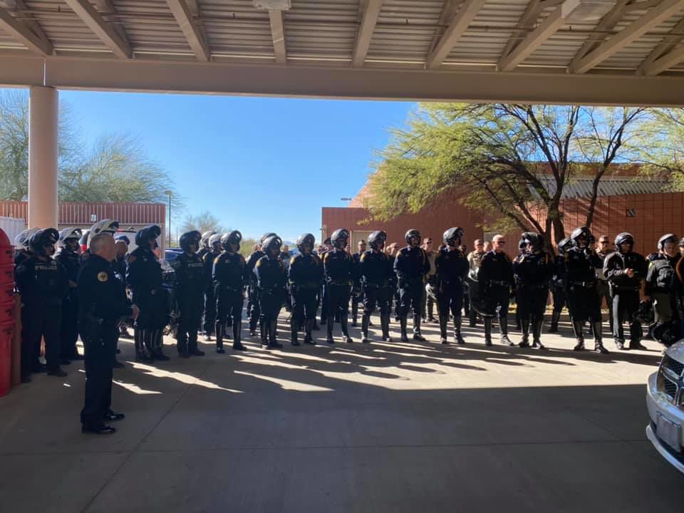 Procession held for fallen White Mountain Apache Police Officer David Kellywood