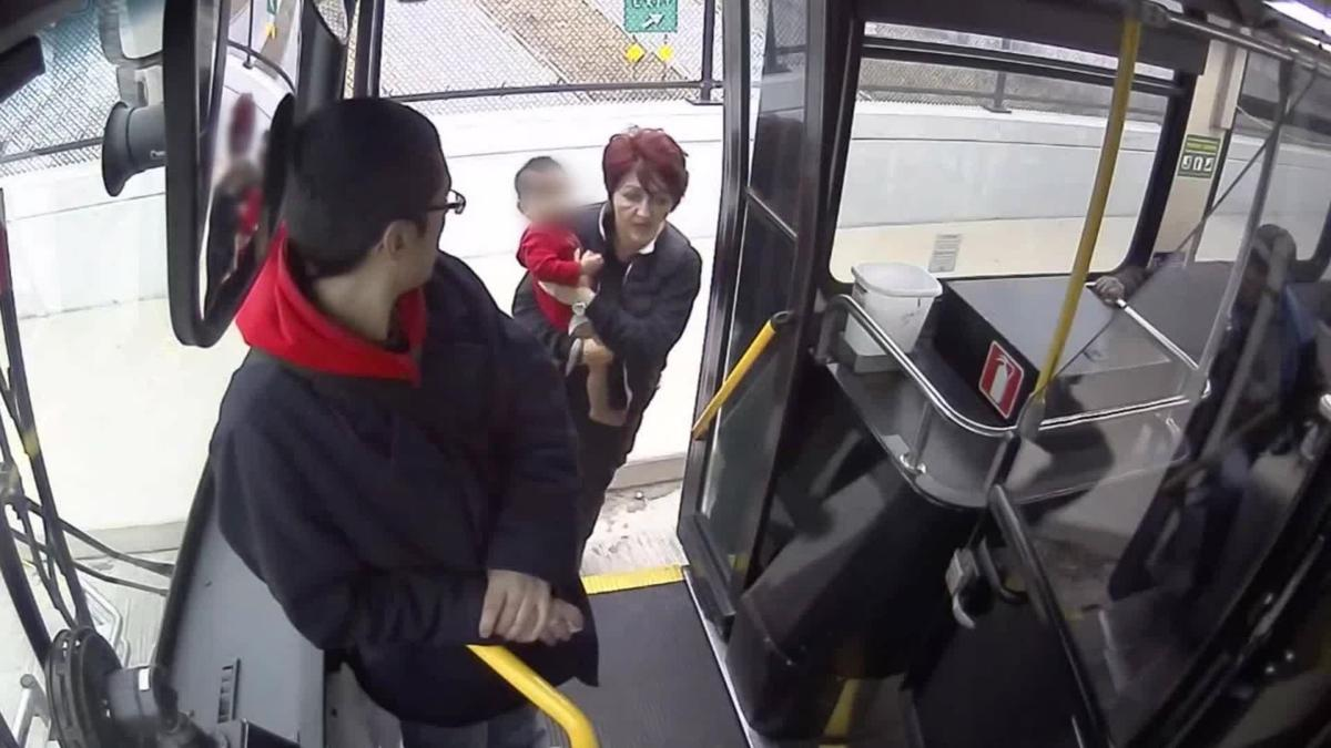 Milwaukee bus driver rescues lost infant on freeway overpass