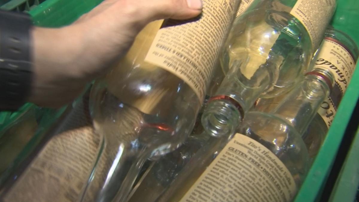 Thousands of empty wine bottles from at the event will get re-purposed in a whole new way.