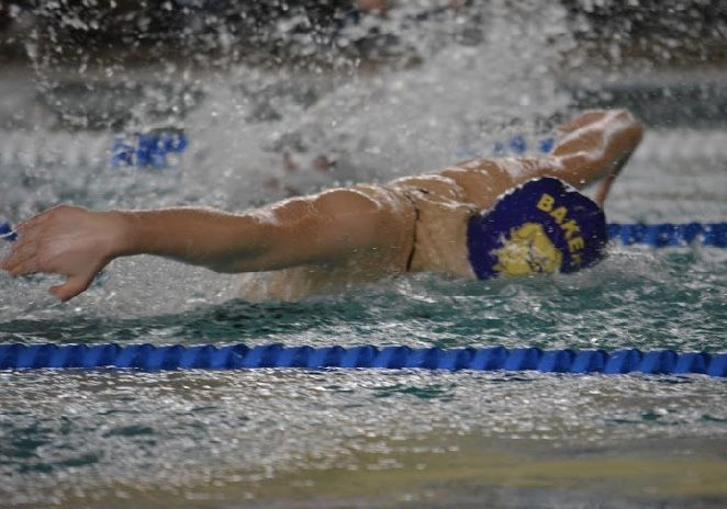 Baker girls swimming