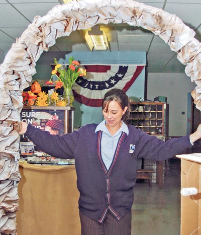Haines Post Office Clerk Reuses Materials For Holiday Decorations