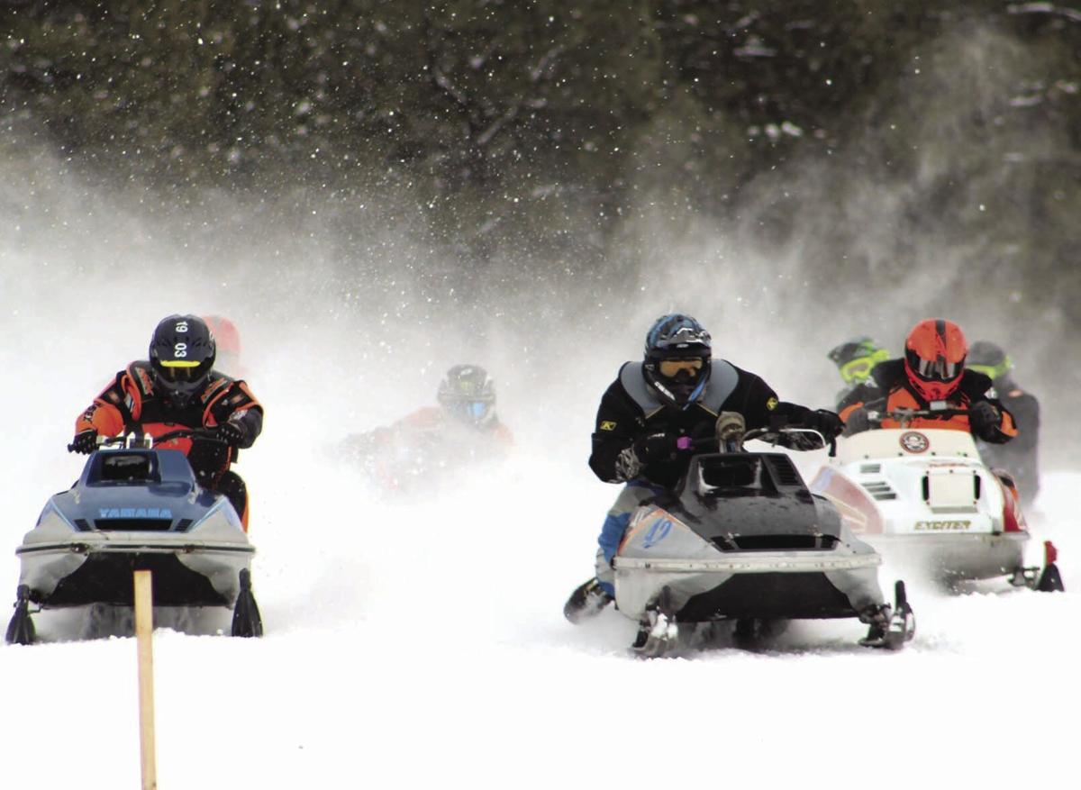 Vintage snowmobile race