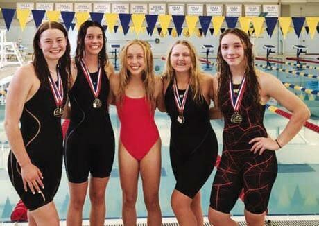 Baker swimmers