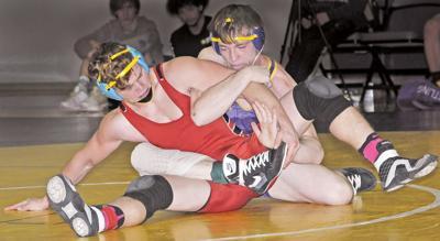 Baker wrestling