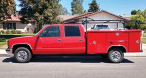Chevy 1 ton 1995, crew cab, service bed, $5,900. trade