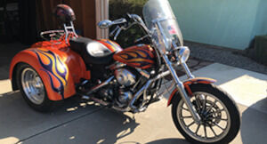 H.D. Dyna Flex Low Rider custom trike. Converted & completely