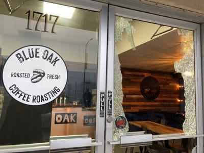 Blue Oak Coffee Roasting front door