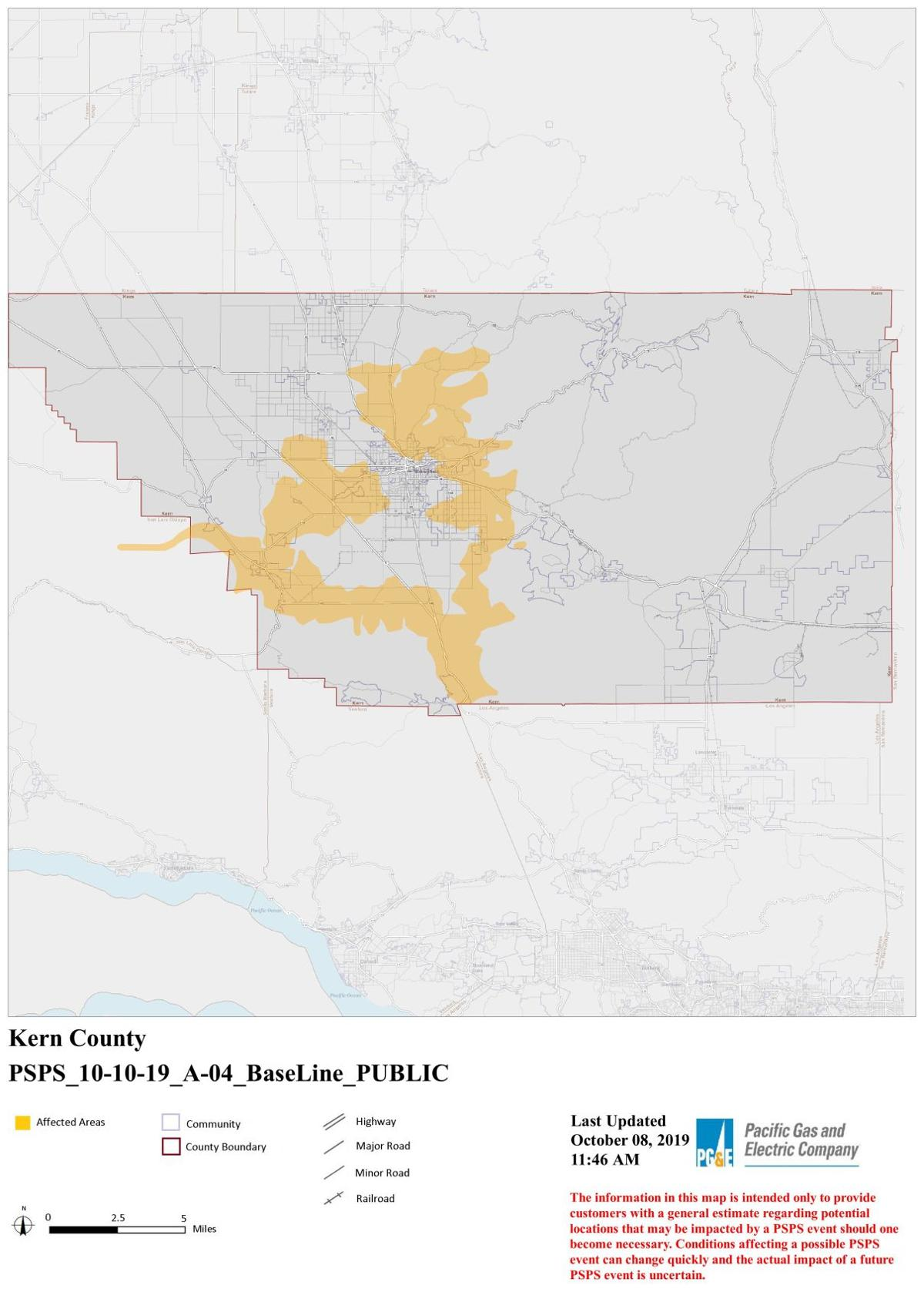 Download The Kern County Possible Outage Map Bakersfield Com