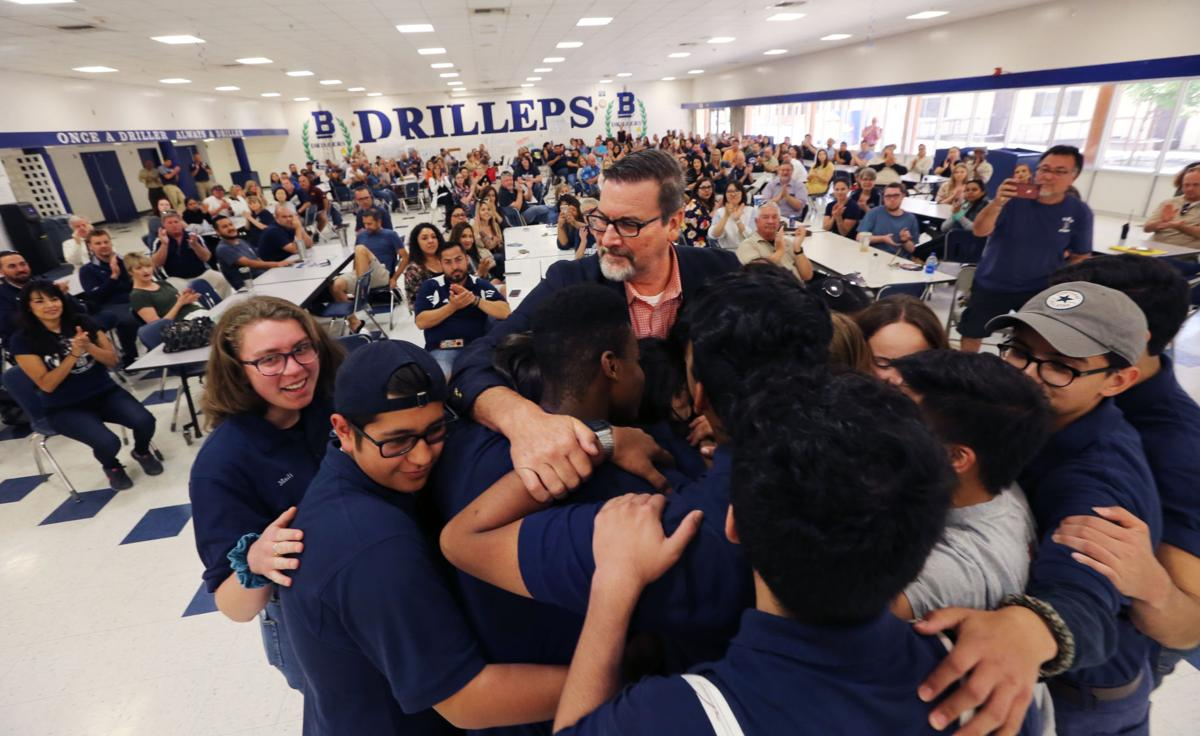 David Reese's group hug